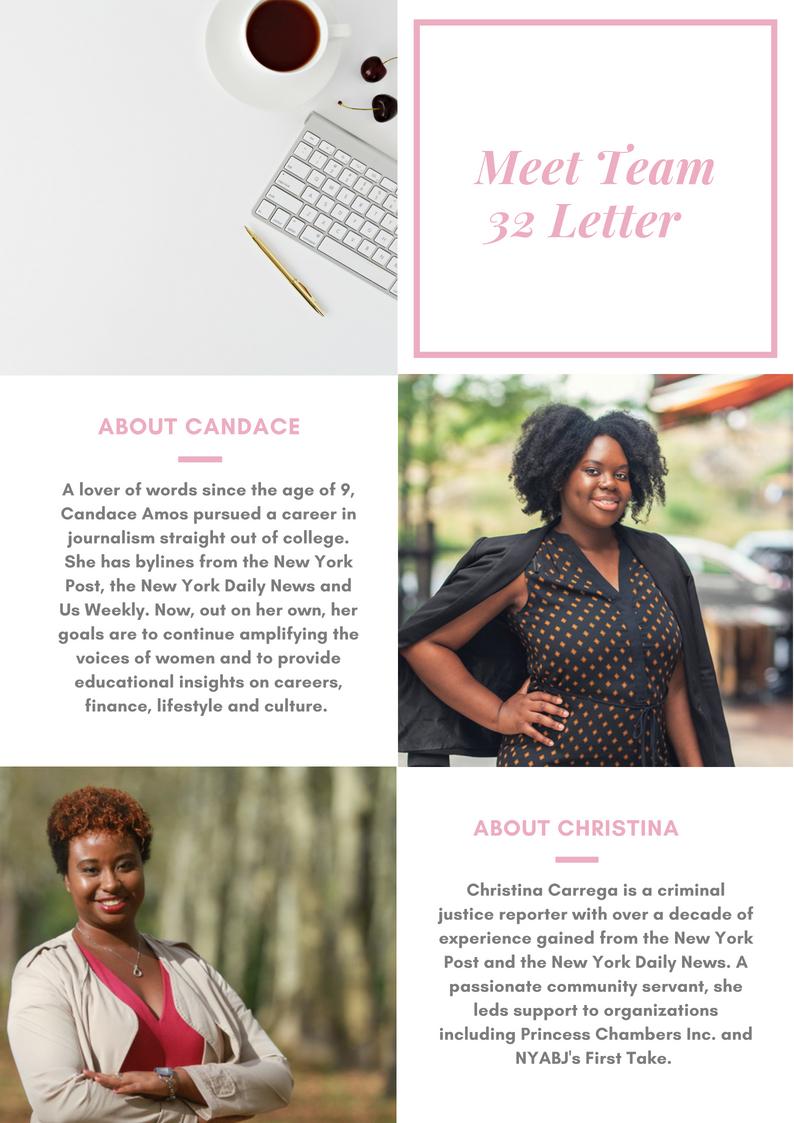 Candace Amos and Christina Carrega, 32Letter.com
