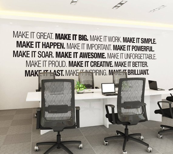 Etsy Home Office Wall Sticker Art