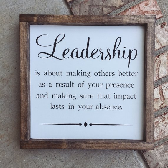 Etsy Leadership Quote Wood Sign