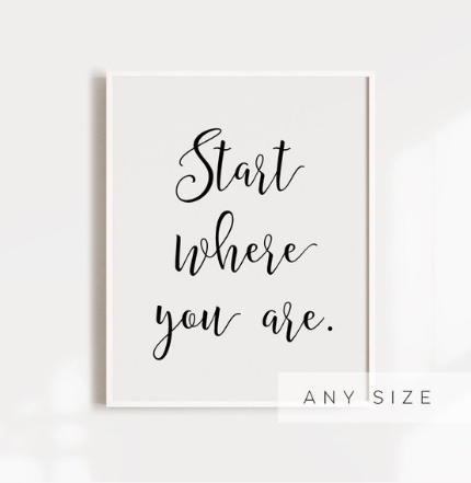 Etsy Start Where You Are Wall Art